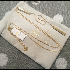 NEW KENDRA SCOTT SHELTON NECKLACE IN GOLD